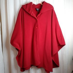 WIC-Tec Red Wrap button front Poncho Cape